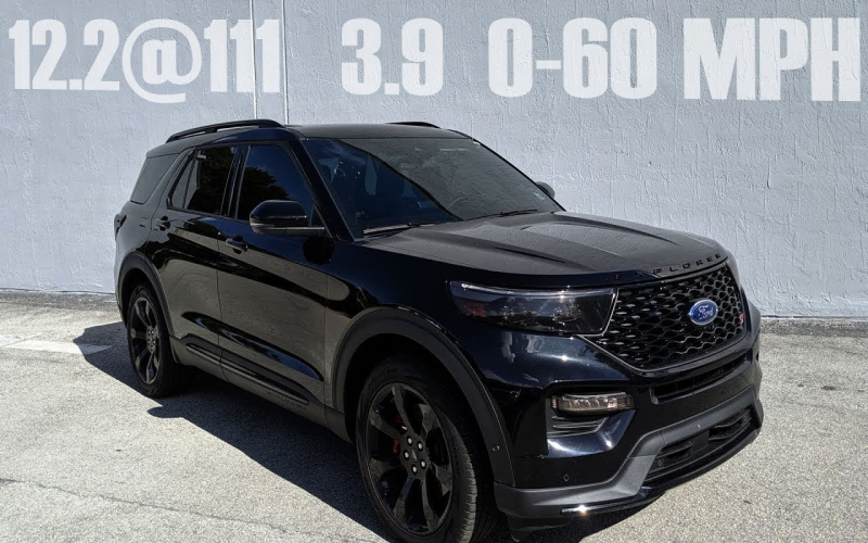 2020 Ford Explorer St Goes 12.2@111 In The 1/4 Mile And 3.9 0-60 Mph!!!