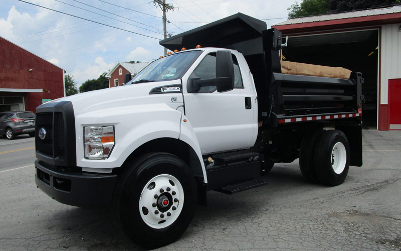 2021 Ford F650 6 Yard Dump Regular Cab - Curry Supply Trucks