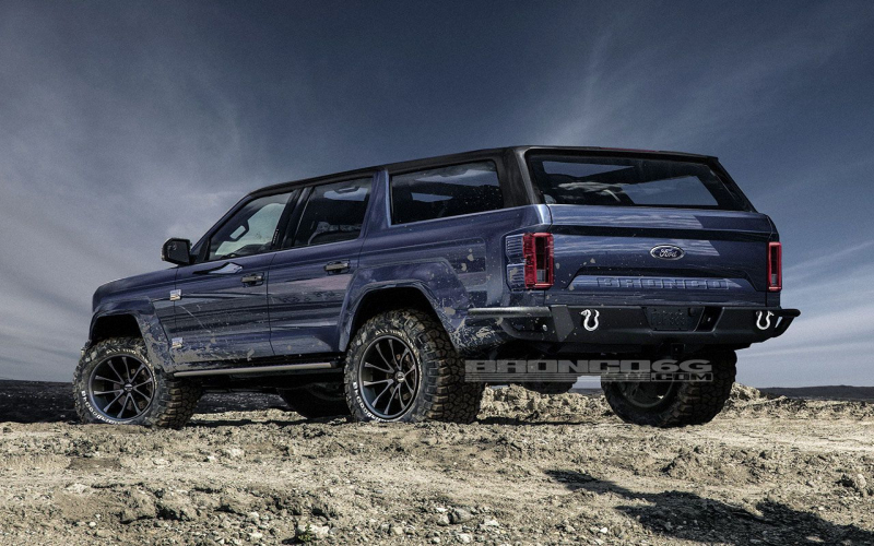4-Door 2020 Ford Bronco Concept Isn't Real, Still Awesome