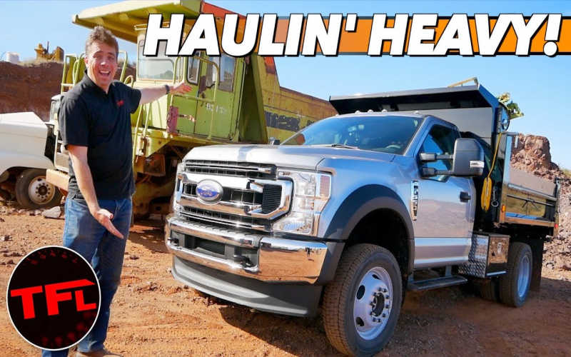 I Drive A 2020 Ford F-550 Dump Truck With 4,000 Pounds Of Dirt! Who Says  Work Trucks Can't Be Fun?