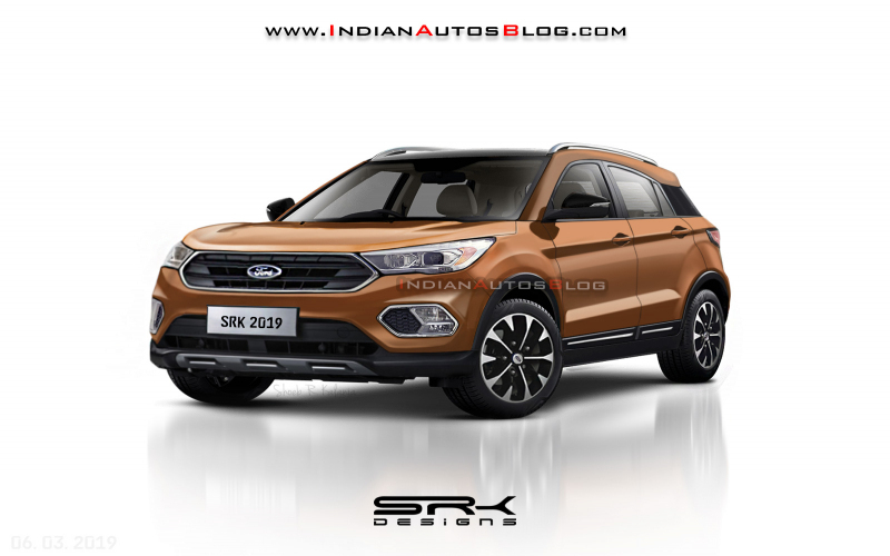 Made-For-India 2020 Ford Ecosport - Iab Rendering