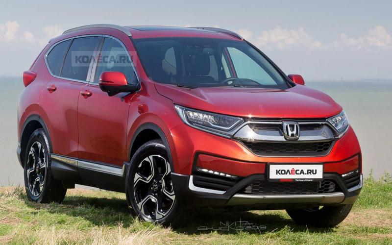 2020 Honda Cr-V Facelift Rendered Based On Spy Shots