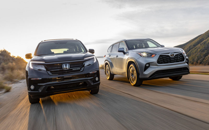 2020 Honda Pilot Vs. 2020 Toyota Highlander: Japan's Top 3