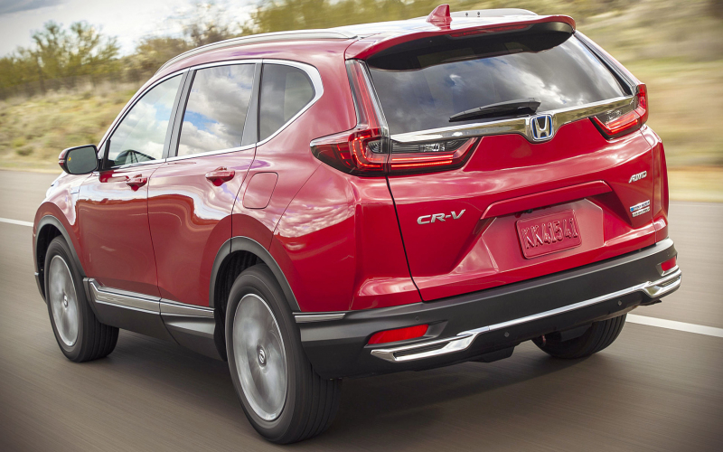 Honda Crv Hybrid 2021 Back Wallpaper
