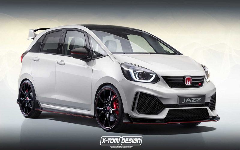 Honda Jazz / Fit Type R Imagined As A Rapid Hot Hatch