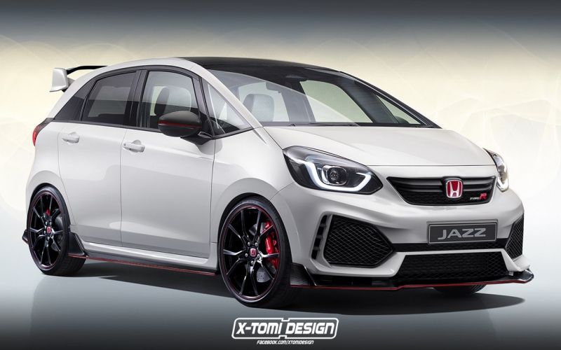 New Honda Jazz Type R 'a Possibility', Rendering Provides
